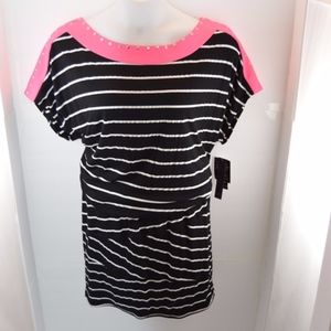 Baby Phat Color Splash Striped Dress L